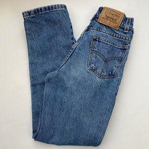 Vintage Levi's 442 Kids Slim High Waist Jeans